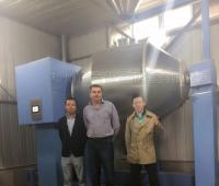 JHX1500L卧式混合机成套生产线发往客户工厂