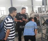 山东电子新材料客户来厂验收混合设备